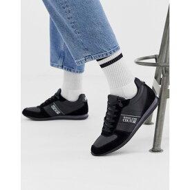 ヴェルサーチ Versace Jeans Couture メンズ シューズ・靴 スニーカー【runner trainers in black】Black