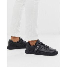 ヴェルサーチ Versace Jeans Couture メンズ シューズ・靴 スニーカー【trainers with side logo】Black