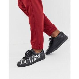 ヴェルサーチ Versace Jeans Couture メンズ シューズ・靴 スニーカー【trainers with large logo】Black