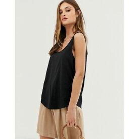 エイソス ASOS DESIGN レディース トップス タンクトップ【ultimate organic cotton vest in black】Black