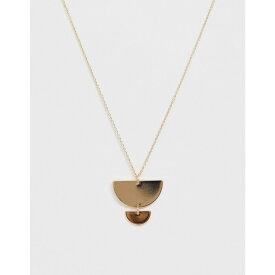 フレンチコネクション French Connection レディース ジュエリー・アクセサリー ネックレス【metal plate necklace】Gold