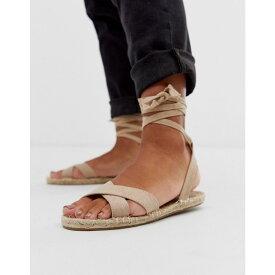エイソス ASOS DESIGN レディース シューズ・靴 エスパドリーユ【Jala espadrille flat sandals in beige】Taupe