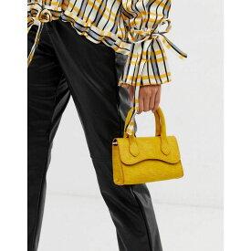エイソス ASOS DESIGN レディース バッグ【micro grab bag with curved flap and detachable strap】Yellow
