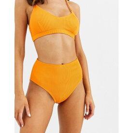 ウェアハウス Warehouse レディース 水着・ビーチウェア ボトムのみ【high leg ribbed bikini bottom】Orange