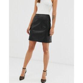ウェアハウス Warehouse レディース スカート【skirt with seam detail in black pu】Black