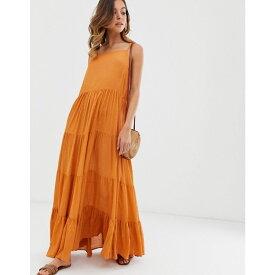 ウェアハウス Warehouse レディース ワンピース・ドレス ワンピース【tiered maxi dress in rust】Red