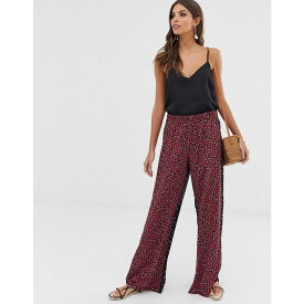 フレンチコネクション French Connection レディース ボトムス・パンツ【Aubine floral print wide leg trousers】Mimosa/black