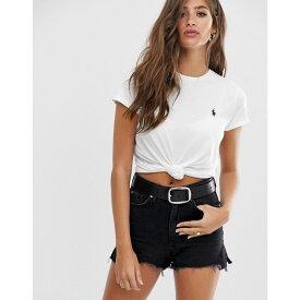 ラルフ ローレン Polo Ralph Lauren レディース トップス Tシャツ【classic logo tee】white