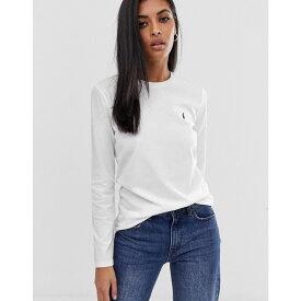 ラルフ ローレン Polo Ralph Lauren レディース トップス 長袖Tシャツ【classic logo long sleeve top】white