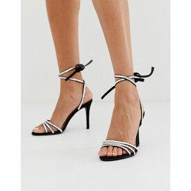 フォーエバーニュー Forever New レディース シューズ・靴 ヒール【embellished tie strap heel in black】Black/silver