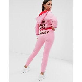 ジューシークチュール Juicy Couture レディース ボトムス・パンツ ジョガーパンツ【Black Label flames logo high waisted joggers】Pink lemonade