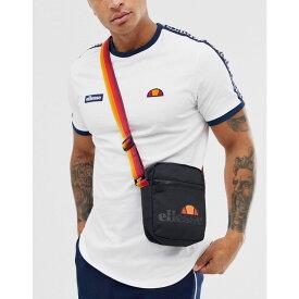 エレッセ ellesse メンズ バッグ ショルダーバッグ【Asolo cross body bag with orange strap in black】Black