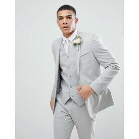 エイソス ASOS DESIGN メンズ アウター スーツ・ジャケット【skinny suit jacket in ice grey】Ice grey