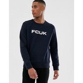 フレンチコネクション French Connection メンズ トップス スウェット・トレーナー【FCUK logo crew neck sweat】Marine