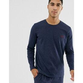 ヒューゴ ボス BOSS メンズ トップス 長袖Tシャツ【bodywear neppy long sleeve logo t-shirt in navy】Navy