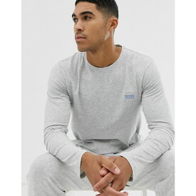 ヒューゴ ボス BOSS メンズ トップス 長袖Tシャツ【bodywear long sleeve logo t-shirt in grey】Grey