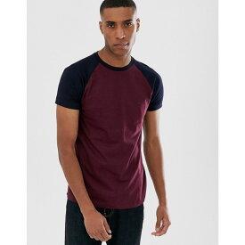 フレンチコネクション French Connection メンズ Tシャツ ラグラン トップス【raglan contrast t-shirt】Red