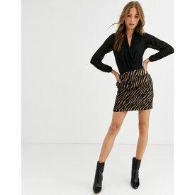 ウェアハウス Warehouse レディース スカート 【Zebra Pelmet Skirt】Brown/black