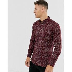フレンチコネクション French Connection メンズ シャツ トップス【floral print shirt】Red