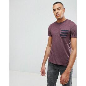 フレンチコネクション French Connection メンズ Tシャツ ポケット トップス【5 Stripe Pocket T-Shirt】Chateau mel/marine
