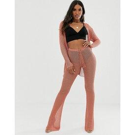 ソレリ Sorelle レディース ボトムス・パンツ ワイドパンツ【UK knitted shimmer wide leg trouser co-ord in pink】Pink