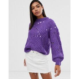 ミニマム Minimum レディース ニット・セーター トップス【knit detail jumper】Royal purple