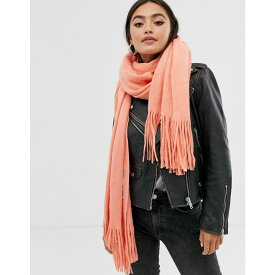 エイソス ASOS DESIGN レディース マフラー・スカーフ・ストール 【long tassel scarf in supersoft knit】Washed orange