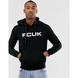 フレンチコネクション French Connection メンズ パーカー トップス【FCUK logo overhead hoodie】Black