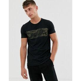 フレンチコネクション French Connection メンズ Tシャツ トップス【FCUK logo t-shirt】Black