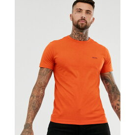 ヒューゴ ボス BOSS Athleisure メンズ Tシャツ トップス【front and back logo t-shirt in orange】Orange