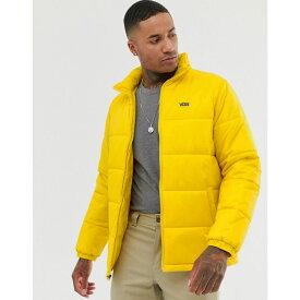 ヴァンズ Vans メンズ ダウン・中綿ジャケット アウター【small logo puffer jacket in yellow】Yellow