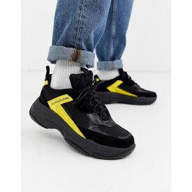 カルバンクライン Calvin Klein メンズ スニーカー チャンキーヒール シューズ・靴【marvin chunky trainers in black and yellow】Black