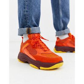 カルバンクライン Calvin Klein メンズ スニーカー チャンキーヒール シューズ・靴【marvin chunky trainers in orange】Orange