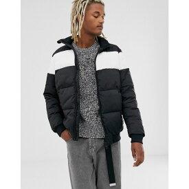 カルバンクライン Calvin Klein Jeans メンズ ダウン・中綿ジャケット アウター【puffer jacket in black with chest stripe】Ck black