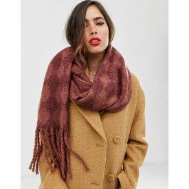 ヴェロモーダ Vero Moda レディース マフラー・スカーフ・ストール 【mixed check oversized scarf】Brown