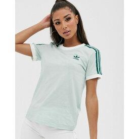 アディダス adidas Originals レディース Tシャツ トップス【adicolor three stripe t-shirt in mint green】Green