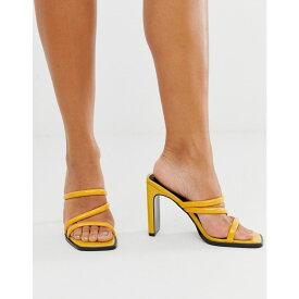 エイソス ASOS DESIGN レディース サンダル・ミュール シューズ・靴【national padded heeled sandals】Yellow
