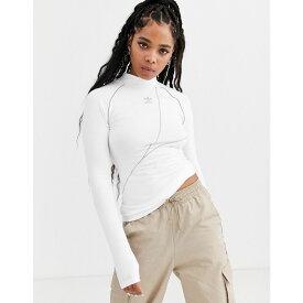 アディダス adidas Originals レディース トップス 【a2k white high neck trefoil long sleeve top】White