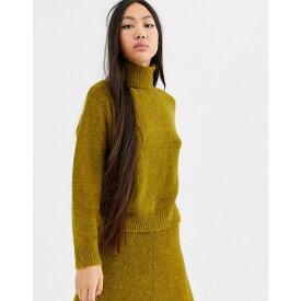 エイソス ASOS WHITE レディース ニット・セーター トップス【alpaca wool roll neck】Green