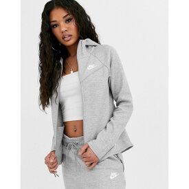 ナイキ Nike レディース パーカー トップス【tech fleece zip through hoodie in grey】Grey heather