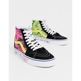 ヴァンズ Vans レディース スニーカー シューズ・靴【sk8-hi print contrast trainers in pink】Lady vans azalea pin