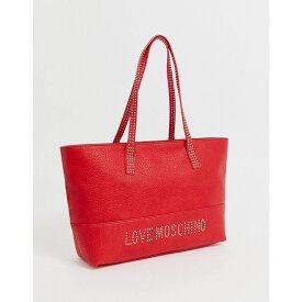 モスキーノ Love Moschino レディース トートバッグ バッグ【stud strap tote bag】Red/gold