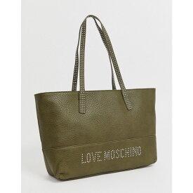 モスキーノ Love Moschino レディース トートバッグ バッグ【stud strap tote bag】Khaki/gold