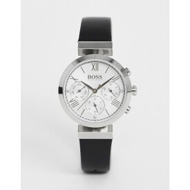 ヒューゴ ボス BOSS レディース 腕時計 【classic sports leather watch in black】Black