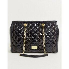 モスキーノ Love Moschino レディース トートバッグ バッグ【high shine snake quilted faux leather tote bag】Black/gold