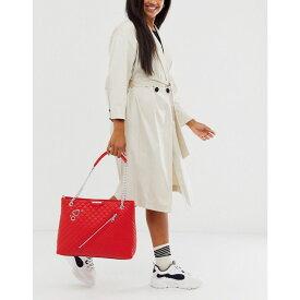 モスキーノ Love Moschino レディース トートバッグ バッグ【cross heart stud chain tote bag】Red/gold