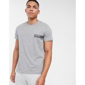 ヒューゴ ボス BOSS メンズ Tシャツ トップス【bodywear logo t-shirt in grey】Grey