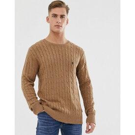 フレンチコネクション French Connection メンズ ニット・セーター トップス【100% cotton logo cable knit jumper】Tan