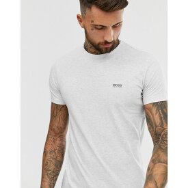 ヒューゴ ボス BOSS Athleisure メンズ Tシャツ トップス【front and back logo t-shirt in grey marl】Grey