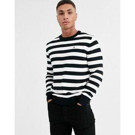 カルバンクライン Calvin Klein Jeans メンズ ニット・セーター トップス【stripe jumper】White